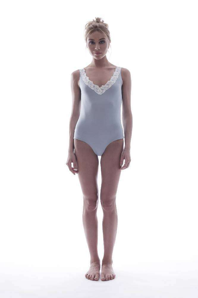 Bodysuit in Blue Modal