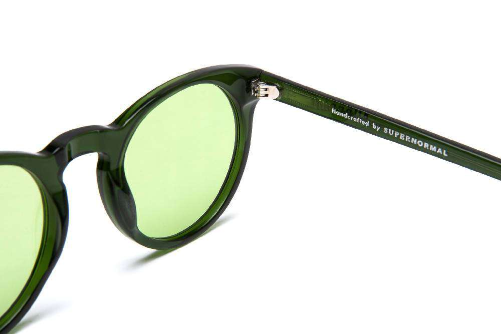 Soft Rounded Green Supernormal Sunglasses