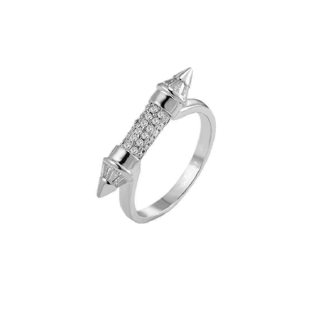 White Gold Pointed Ring