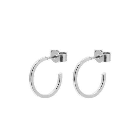 Arc Stud Earrings - Silver