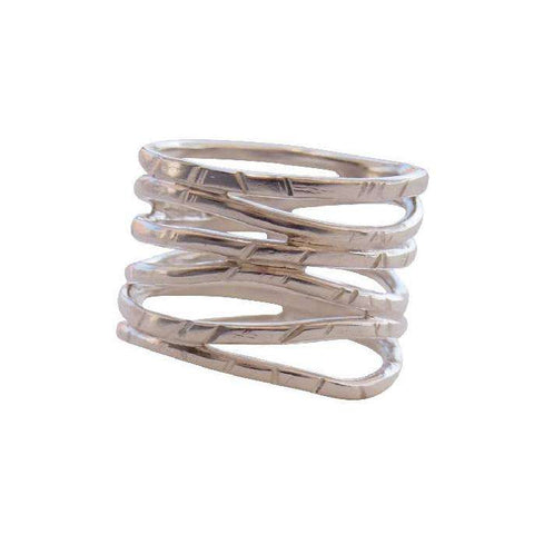 Paradox Skinny Stacking Ring - Silver