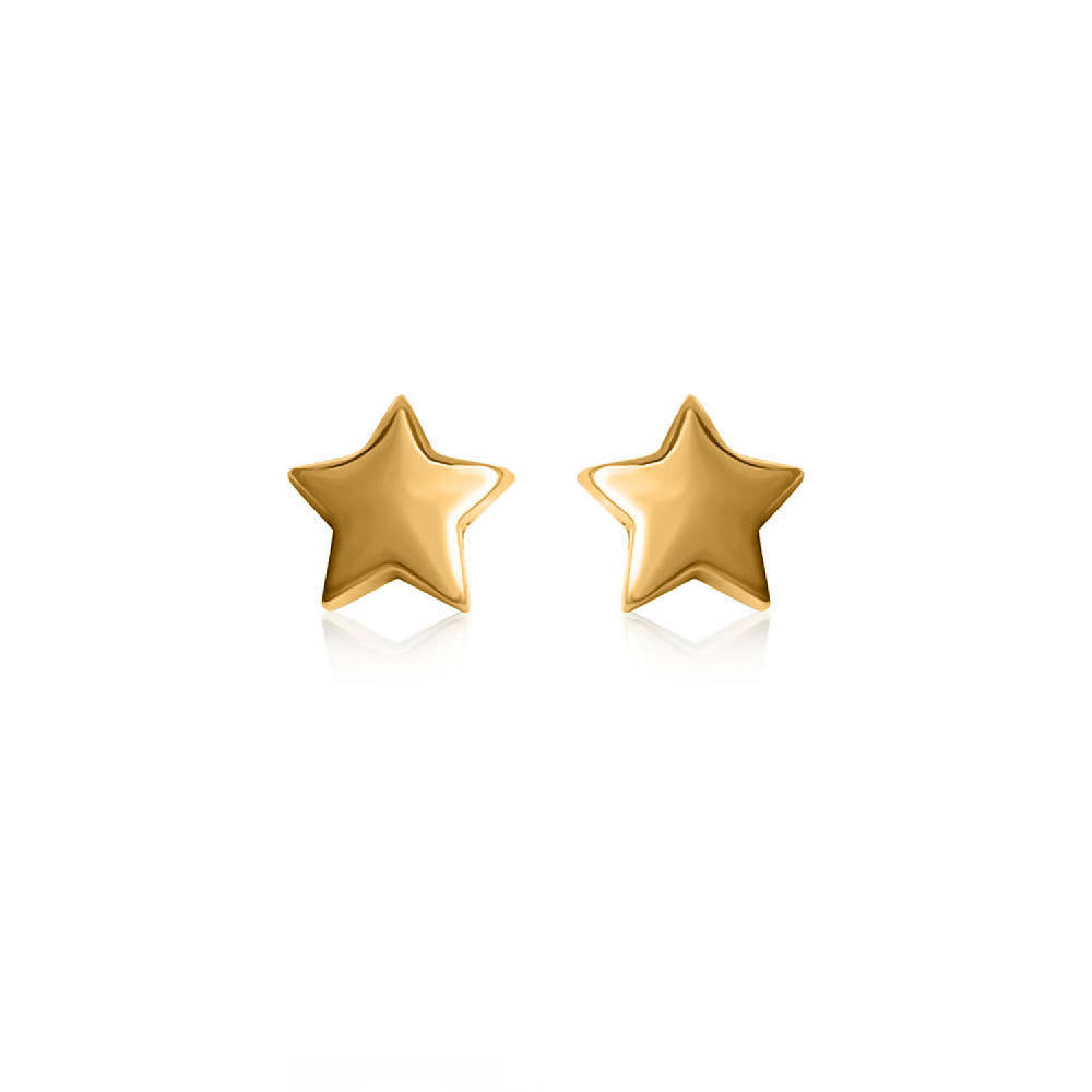 To the Moon and Back - 18ct Gold Star Earrings