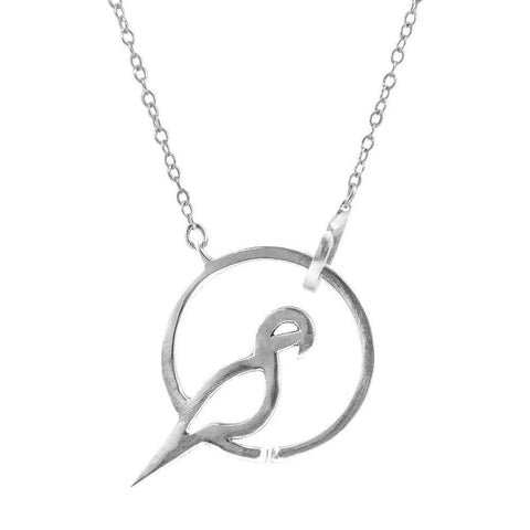 Circle Parrot Gold Necklace