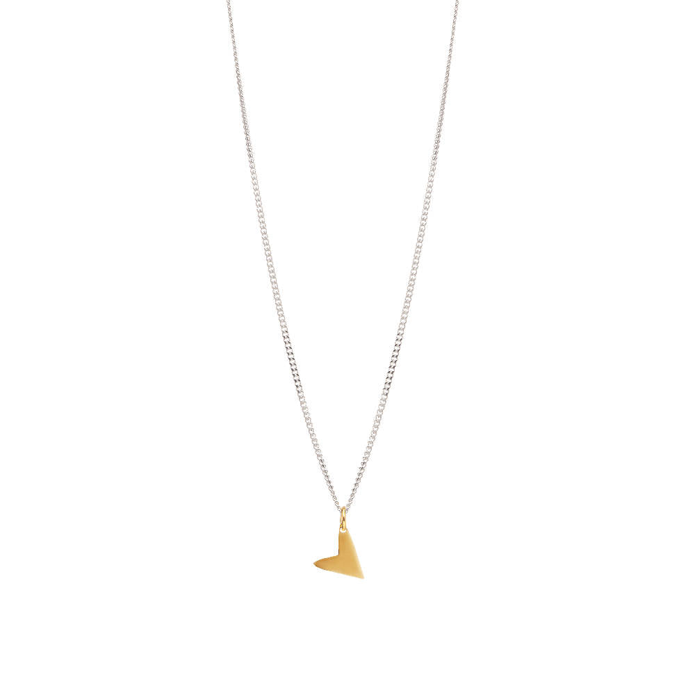 Love Necklace Gold Plated Sterling Silver