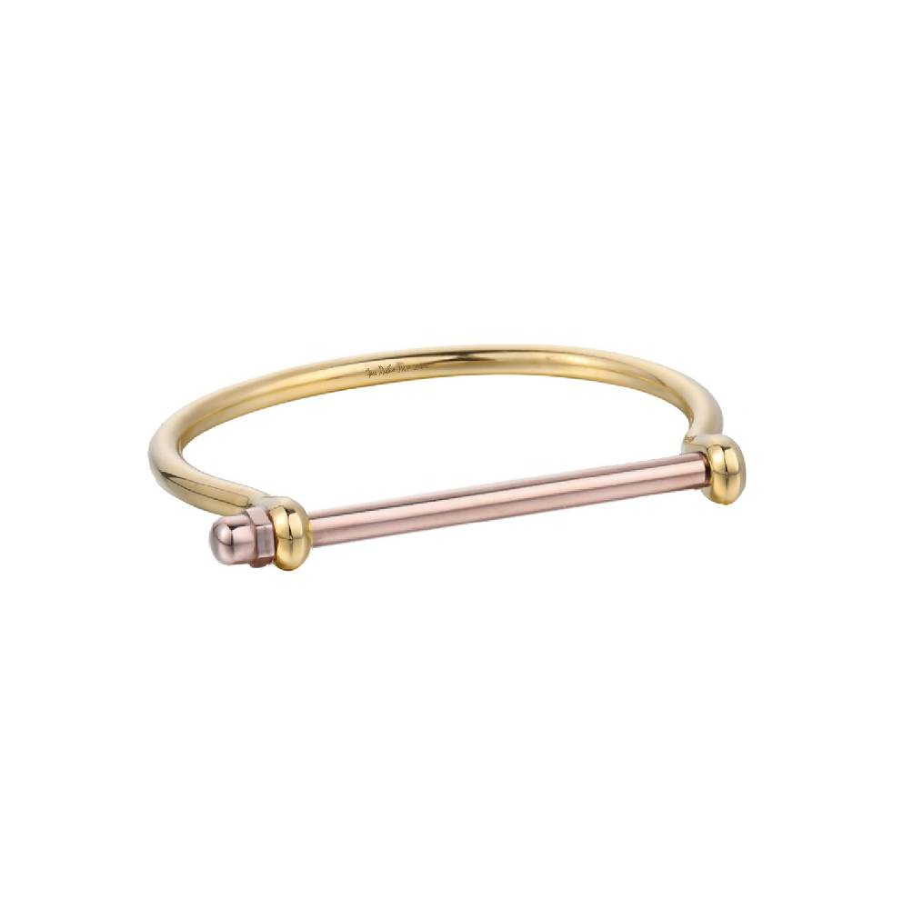 Gold Screw Cuff Bracelet
