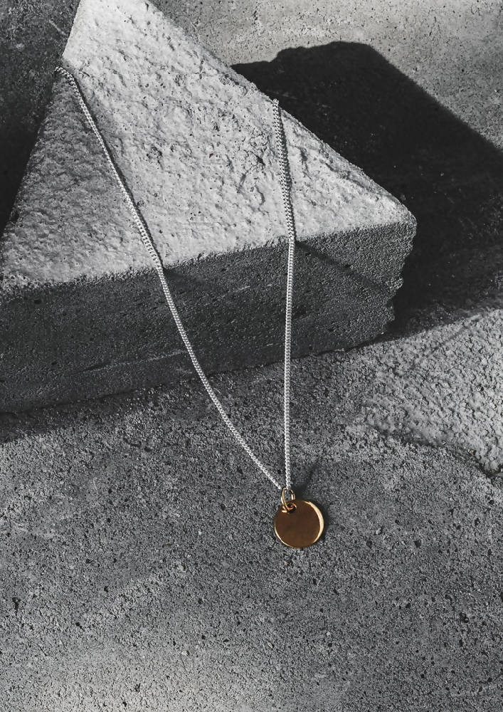 Plate Necklace Gold Plated Sterling Silver