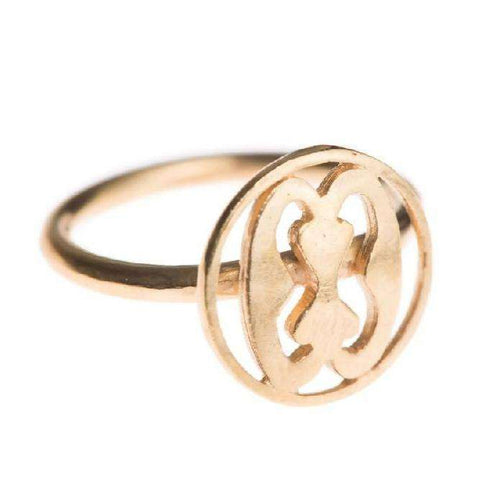 Strength Adinkra Ring