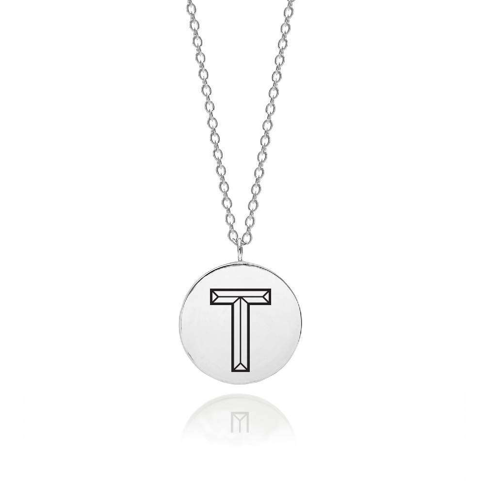 Sterling Silver Facett Initial T Pendant