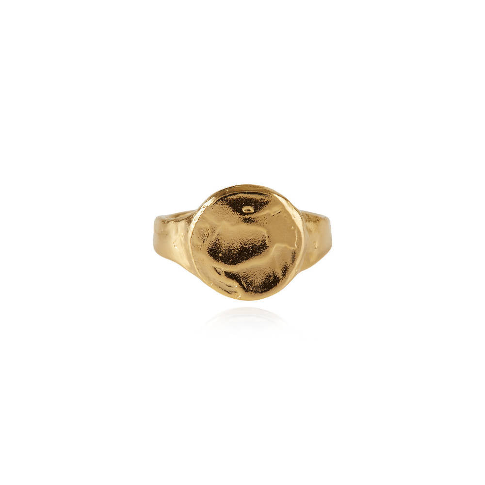 Disco Inferno Signet Ring