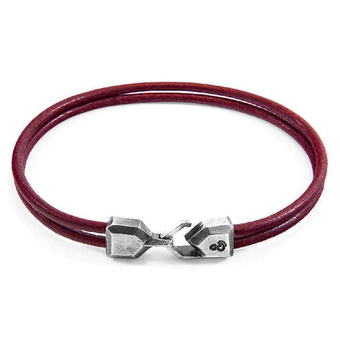 Racing Green Brixham Silver And Round Leather Bracelet