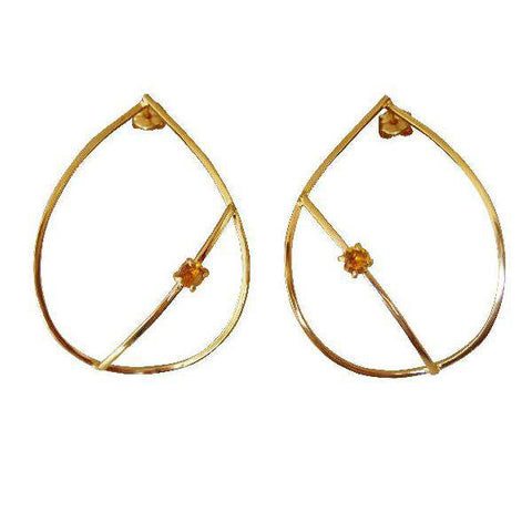 Tyro Yellow Gold Chain Drop Earrings