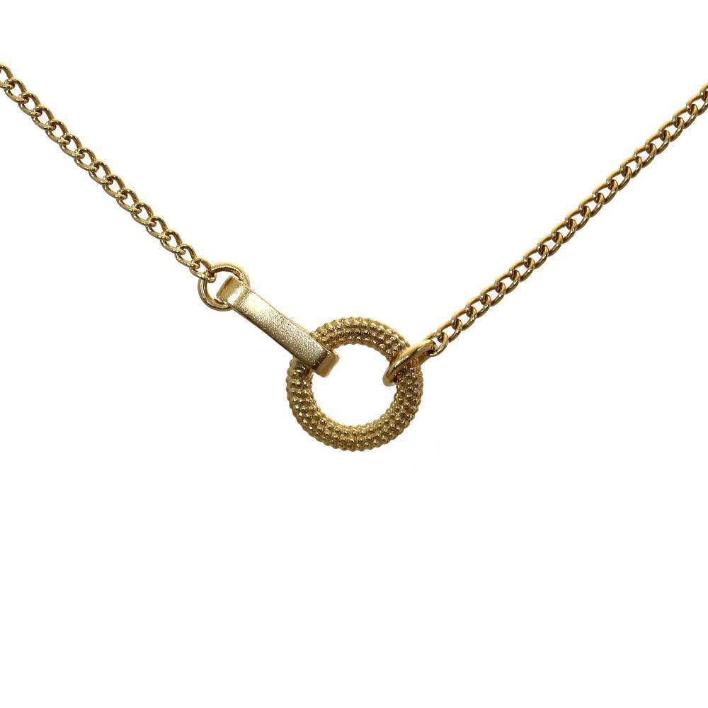 Tyro In-line Yellow Gold Necklace