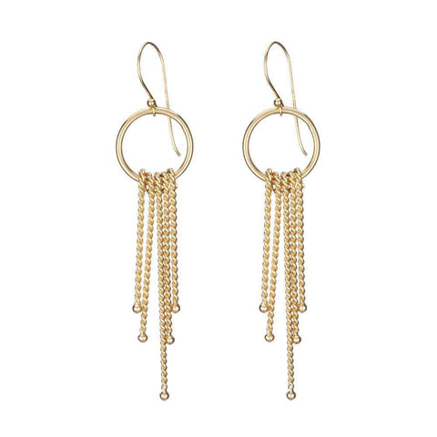 Tiny Villa Yellow Gold Hoop Earrings