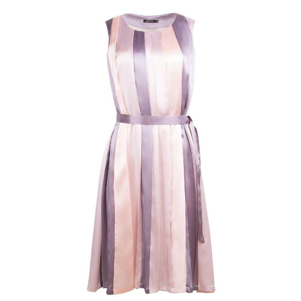 Pink & Purple Striped Silk Dress
