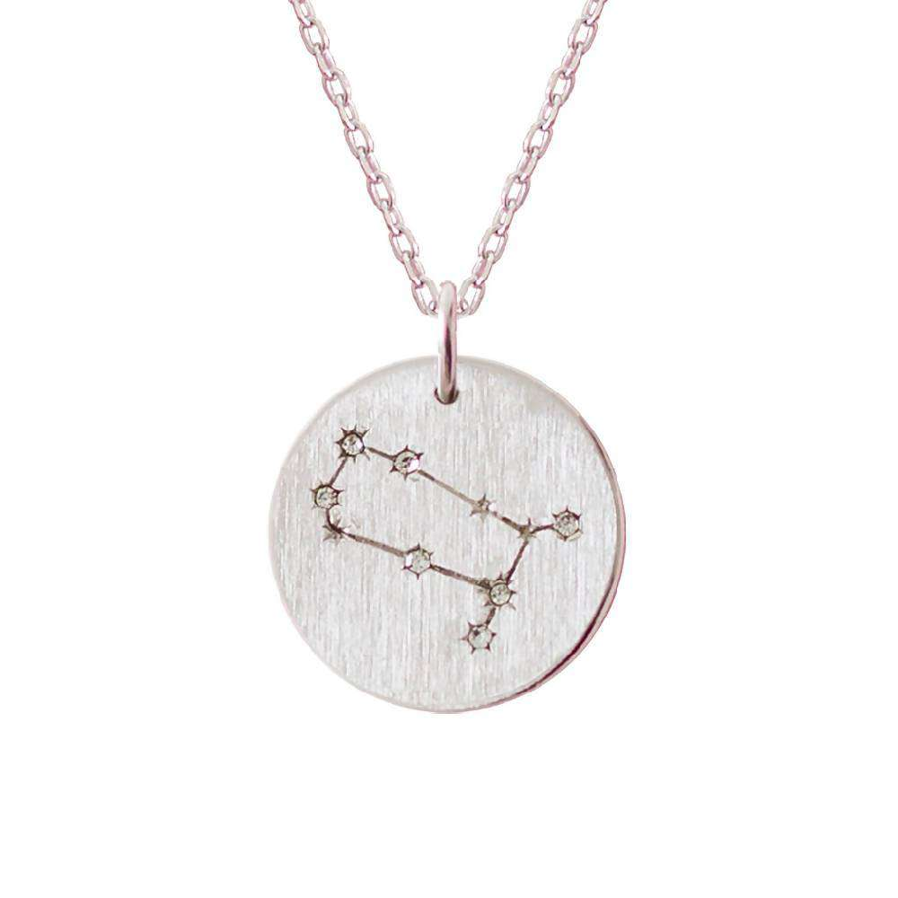 Silver Zodiac Star Sign Constellation Necklace - Gemini