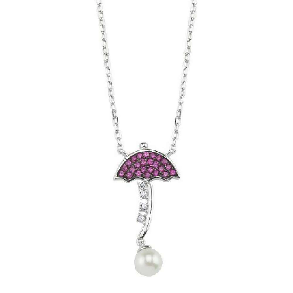 SilverDream Necklace - 925 Sterling Silver – 21 Pink cvnt