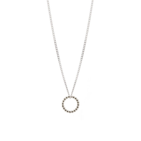 White Gold and Diamond Single Embrace Necklace