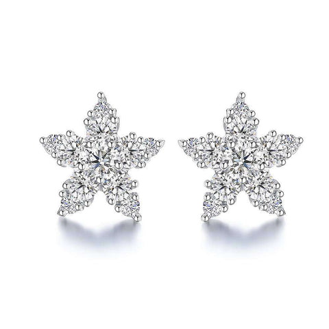 CZ 18K Gold Plated Stud Earrings