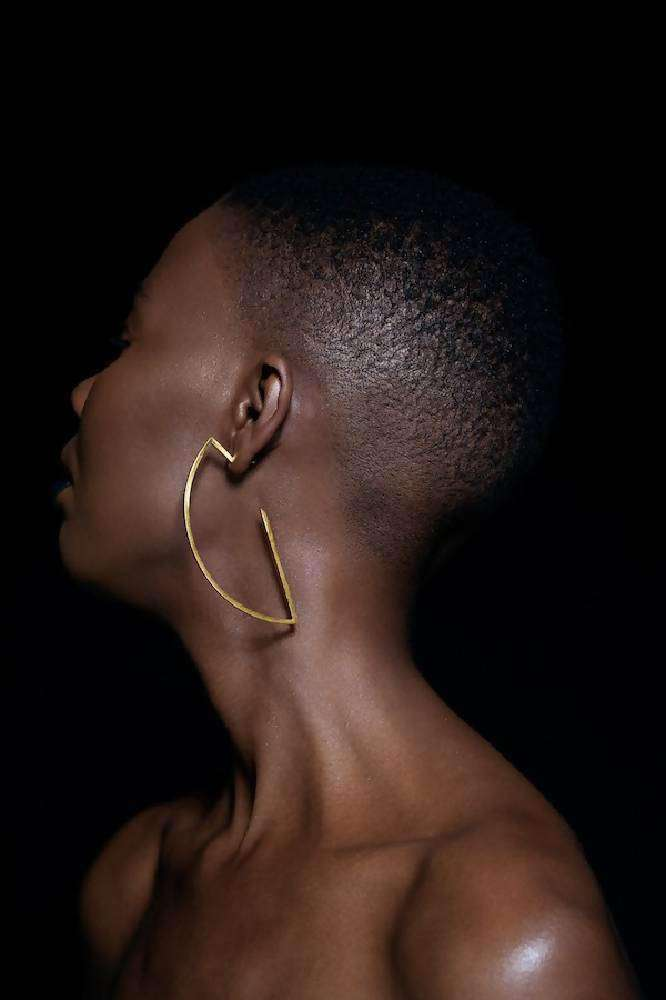 La Houe Large Hoop Earrings