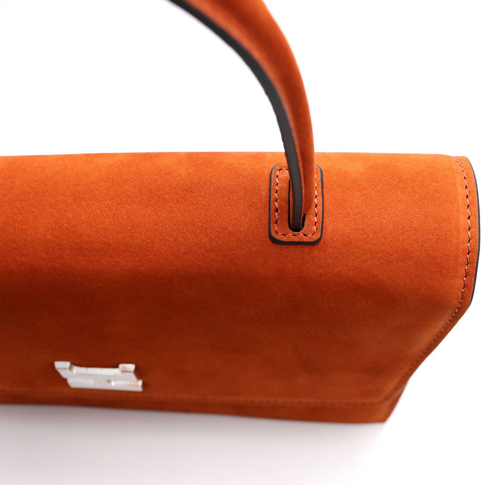 Ninel nubuck leather shoulder bag