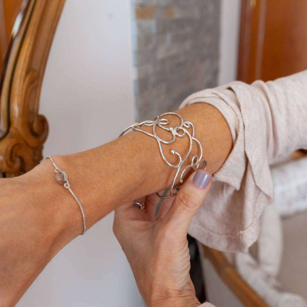 Air - Sterling silver bracelet with arabesques
