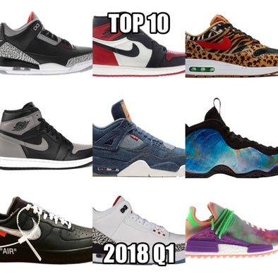 Top 10 Sneakers of 2018 Quarter 1