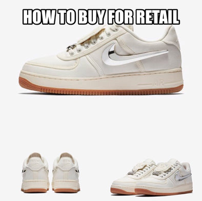 How To Buy Nike Air Force 1 Travis Scott Sail For Retail - Release Locations, Online Links, and Raffles