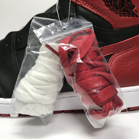 Jordan 1 Banned Bred Real vs Fake Photo Lace Bag