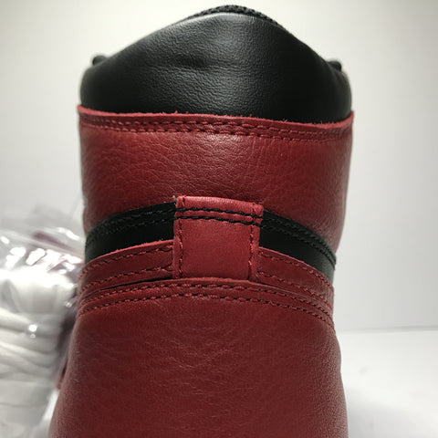 Jordan 1 Bred Banned 2016 Real Vs Fake Back Heel Tab