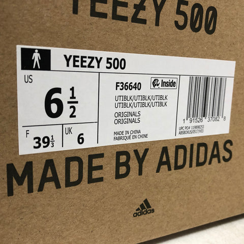 premium selection a9796 7a7ff Adidas Yeezy 500 Utility Black Real vs Fake Guide - Photos ...