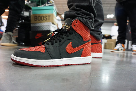 Sneaker: Shoe Surgeon Custom Nike Air Jordan 1 Bred Python