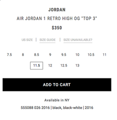 Jordan 1 HIgh OG Top 3 Price Value