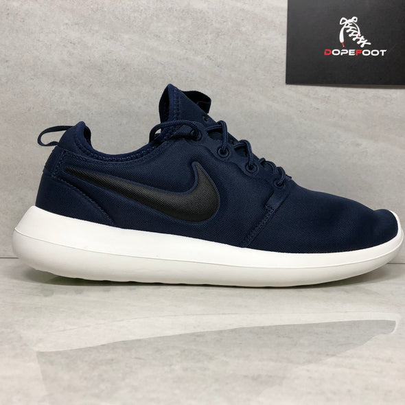 Nike Roshe Two Running Midnight Navy/Black/Sail Size 10.5/Size 12 844656-400 Running Shoes