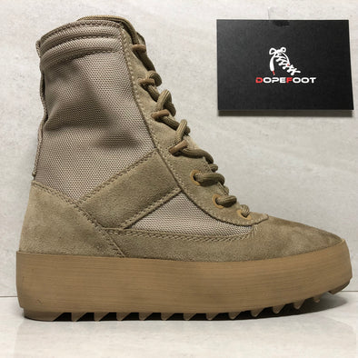 DS Women's Yeezy Season 3 Military Boots Tonal Size 7/Size 9 Rock Nylon and Suede KW2581 021