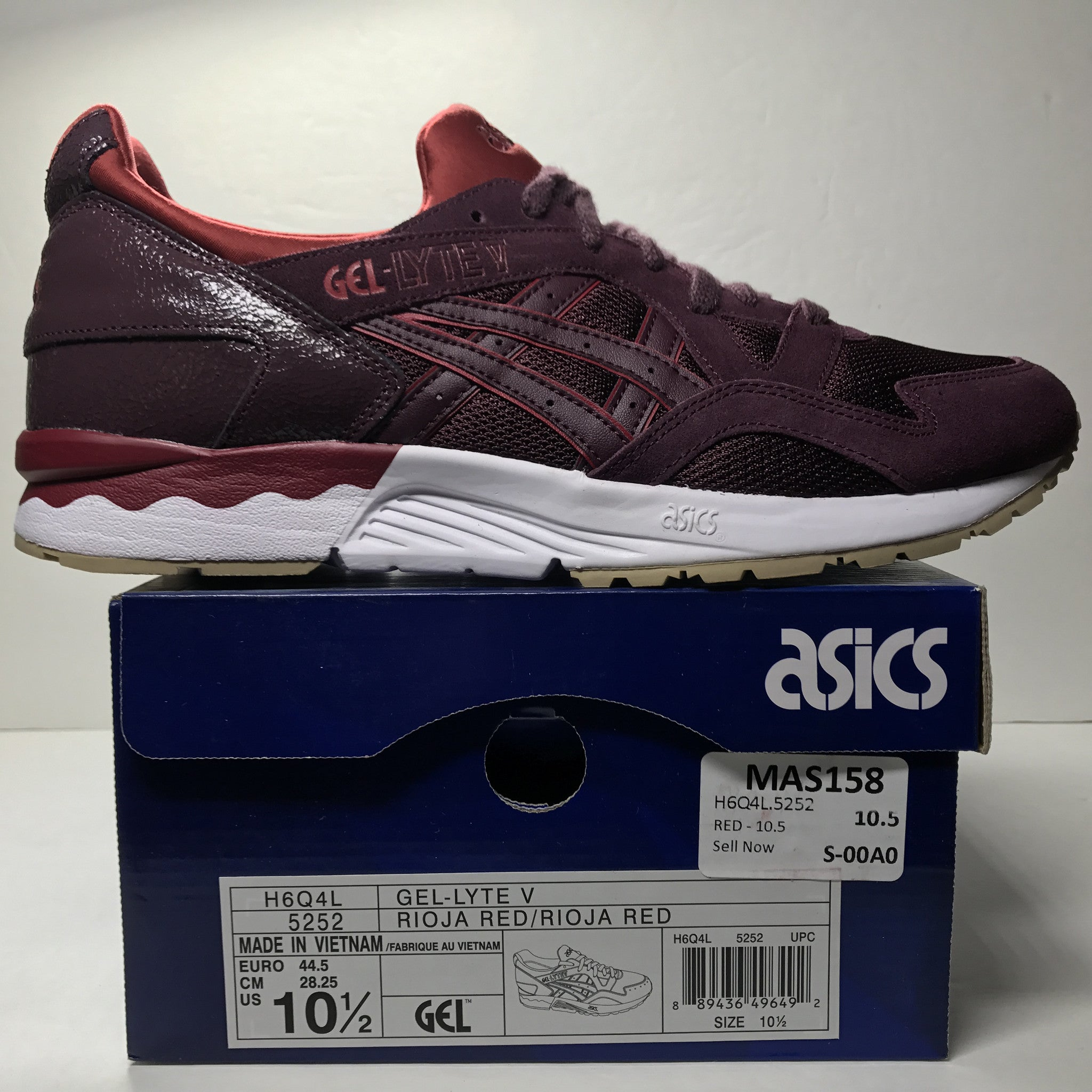 8341445e04be ... DS Asics Gel Lyte V Leather Rioja Red Size 10.5 - DOPEFOOT ...