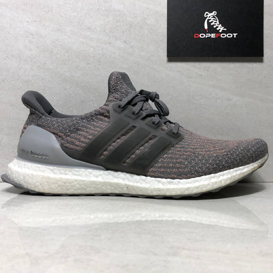 Adidas Men's Ultraboost Size 11 Grey Four/Grey Four/Trace Pink s82022