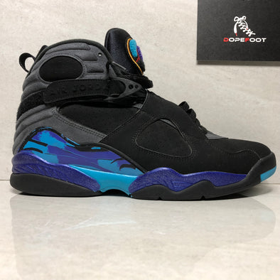 Nike Air Jordan 8 VIII Retro Aqua Size 12 Black/Grey/Concord/Red 305381 025