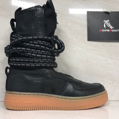 DS Women's Nike SF AF1 Hi Size 6 Air Force 1 AA3965 001 Black/Gum