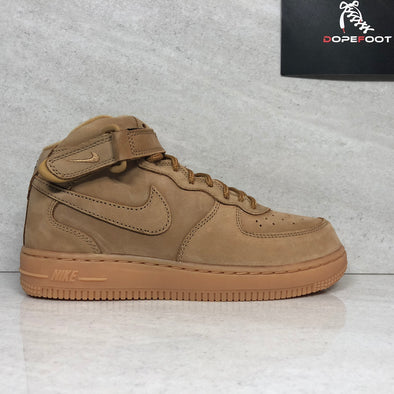 DS Nike Air Force 1 Mid WB (PS) Flax Size 2Y/3Y Wheat AH0756 203