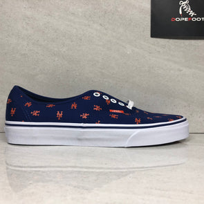 DS Vans Authentic MLB New York Mets Size 8.5/Size 13