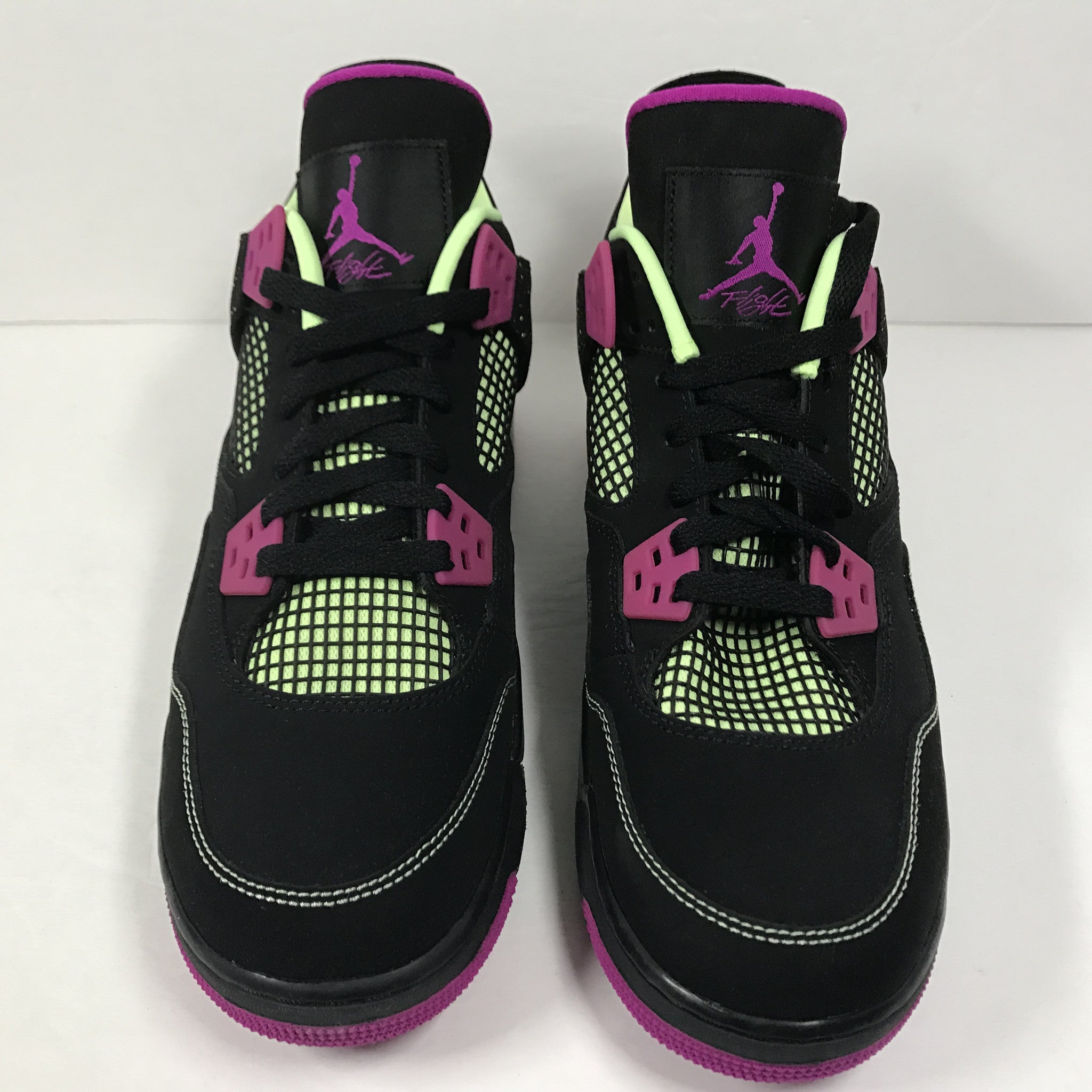 DS Nike Air Jordan 4 IV Retro 30th GG Black/Fuchscia Size 9Y - DOPEFOOT  - 3
