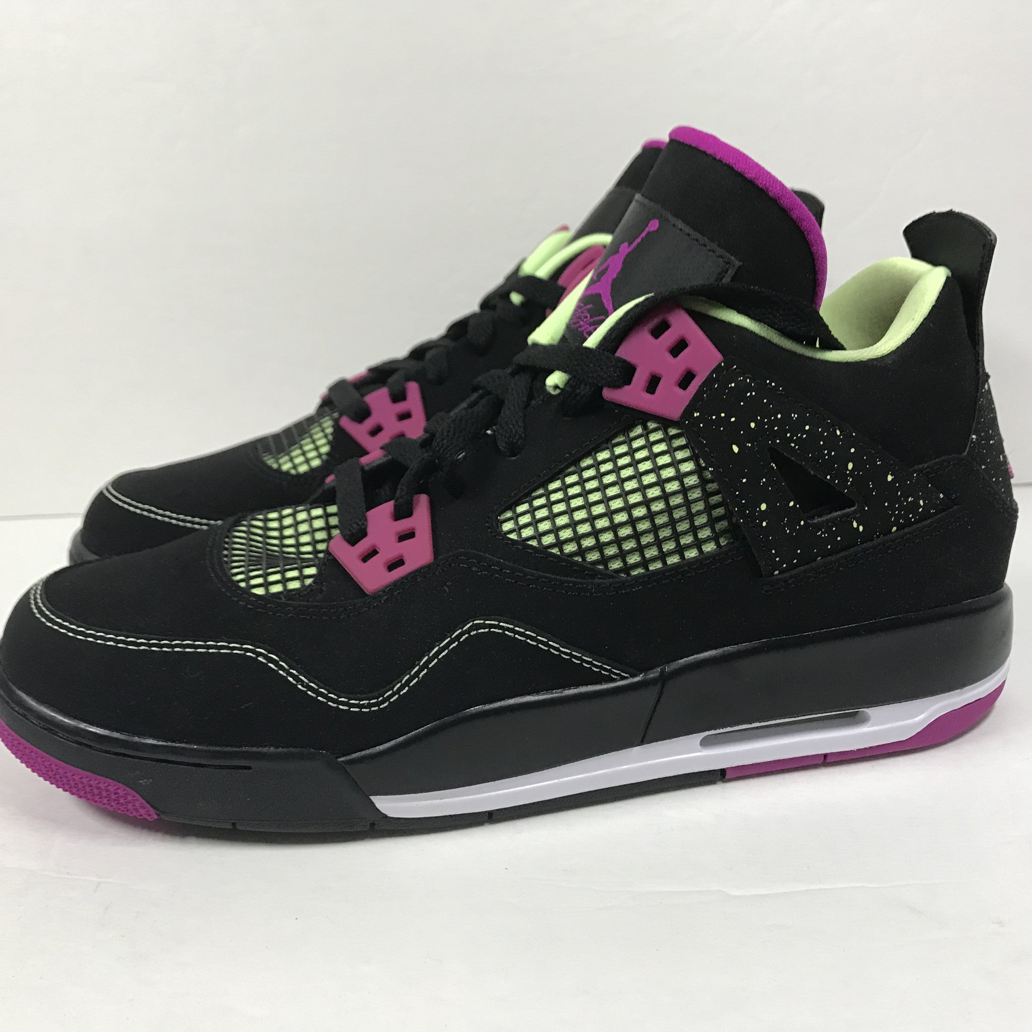 DS Nike Air Jordan 4 IV Retro 30th GG Black/Fuchscia Size 9Y - DOPEFOOT  - 5