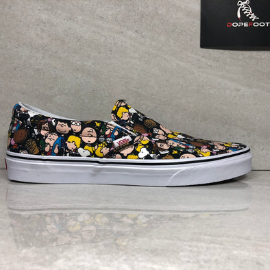 DS Vans X Peanuts The Gang Classic Slip On Size 11/Size 12/Size 13