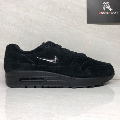 DS Nike Air Max 1 Premium SC Jewel Swoosh Size 9 Black/Chrome 918354 005