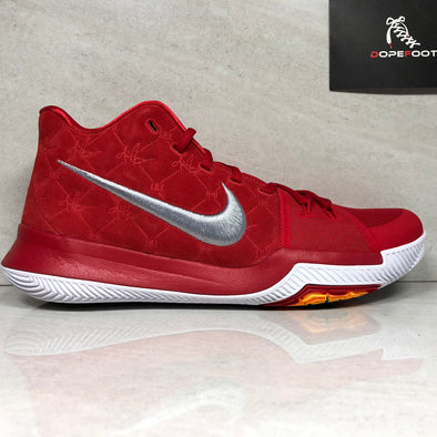 DS Nike Kyrie 3 Size 12/Size 14 University Red/White 852395 601