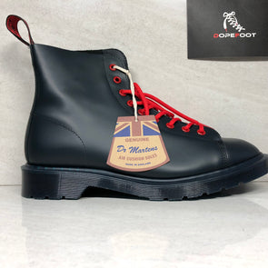 DS OFF White x Dr Martens Les Boot Size 7.5 Navy Blue Virgil Abloh AW501