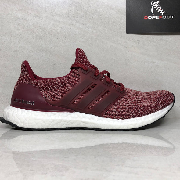 DS Adidas Ultra Boost Burgundy Sample Size 9 Maroon BA8845