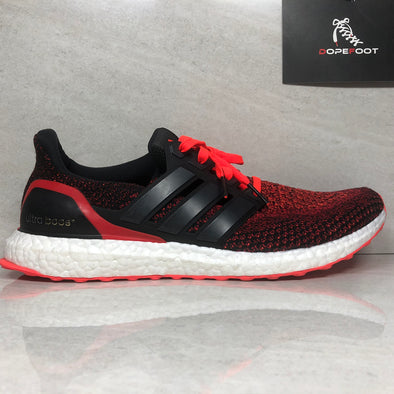Adidas Ultra Boost 2.0 Solar Red Size 12.5 Black AQ5930