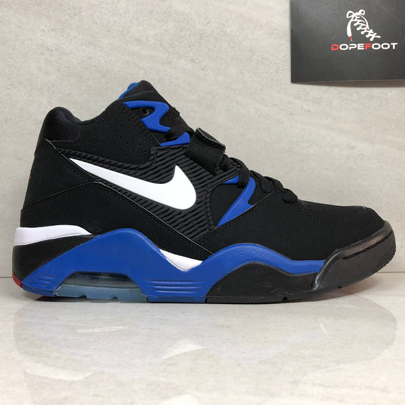 DS Nike Air Force 180 Size 9/Size 10/Size 11 Black/Royal Blue 310095 011