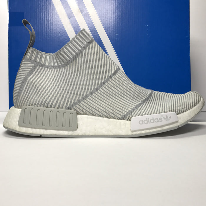 Adidas NMD CS1 PK City Sock Primeknit Grey/White Size 11
